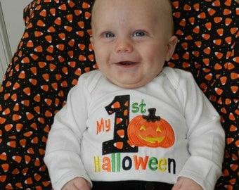 First Halloween Pumpkin Shirt / Personalized