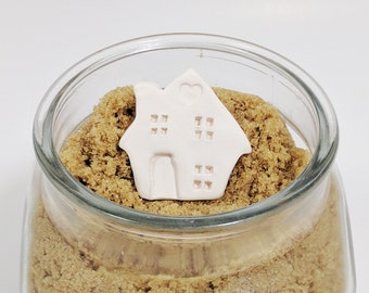 Brown Sugar Keeper, Suger Saver, Small Ceramic House