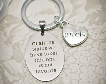 Uncle of the Bride Keychain -WOA- Brother of the Bride, Of all the walks key chain, Grandpa of the Bride, Son of the Bride, Stepdad of Bride
