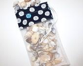 Mini Sea Shell Bag, Tiny Sand Dollars, Mesh Shelling Bag, SeaShell Collecting Bag
