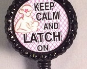 Lactation/ breastfeeding Nurse  5 colors 3 designs to choose from retractable id badge holder