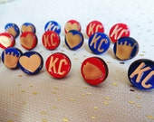 Royals Earrings, Chiefs Earrings, Kansas City Earrings. Mix and Match to make your set!
