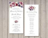Luxe Floral Wedding Program (Printable) by Vintage Sweet