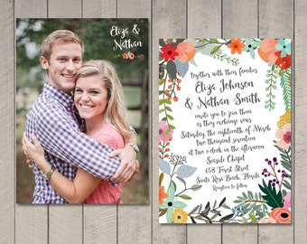Vintage Floral Wedding Invitation (Printable) by Vintage Sweet