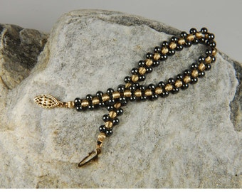 Beadwork Bracelet Gemstone Bracelet Hematite Bracelet Gold Bracelet Jewelry Gifts For Her Romantic Gifts