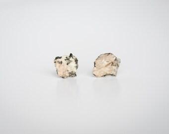 Granite Pink Tint Stud Earrings