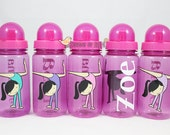 Personalized Gymnast 15oz Sports Water Bottle - For Kids - Party Favors, Gifts - Fun Colors