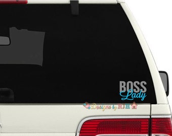 Boss Lady 2 Color Car Decal - Rodan and Fields Consultant Swag