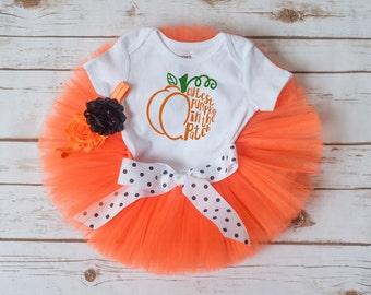 "Pumpkin outfit ""Kathy"" pumpkin costume baby girl halloween pumpkin costume cutest pumpkin tutu outfit cutest pumpkin in the patch outfit"