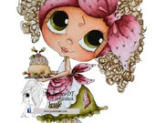 INSTANT DOWNLOAD Digital Digi Stamps Big Eye Big Head Dolls NEW Bestie  Img779 My Besties By Sherri Baldy
