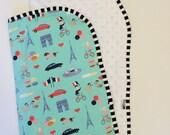 Oui Oui Minky Backed Baby Blanket