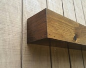 Modern box beam style wall shelf
