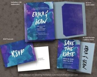 ERIKA (Abstract Art) Invitation Suite Printables
