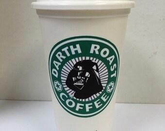Starbucks 16 oz. Reusable Cup Darth Roast Coffee