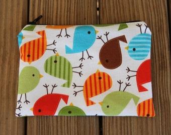 Reusable Snack Bag, Birds - Zipper Snack Bag