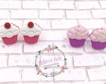 Cute Cupcake Earrings/Nickel Free/Birthday Girl/Party Favors