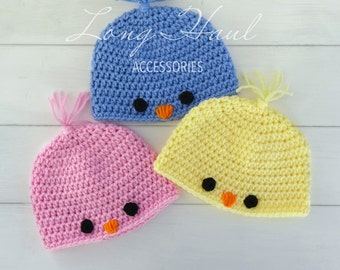 Crochet Baby Chick Hat, Baby Chick, Crochet Hat, Photo Prop, Easter Beanie, Easter Hat, Children's Easter hat, Chick, Children's Beanie