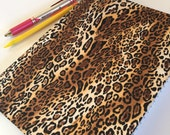 Fabric Covered Notebook – Cheetah Print Fabric