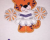 Children's Toddler Tiger Mascot Applique with Personalized Name on a Short or Long Sleeve  T-Shirt