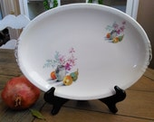 Reserved for Pavone  Small Oval Platter from The Paden City Pottery Co. Gorgeous Flower Vase and Pears and an Orange