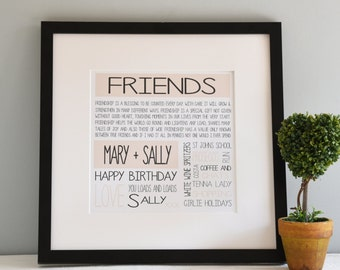 Personalised Friend Print in frame