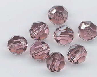 24 gorgeous Swarovski crystals discontinued color - art 5000 - 6 mm - light rose satin