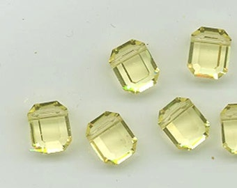 12 vintage Swarovski crystal beads - Art. 5105 - 10 x 8 mm - jonquil