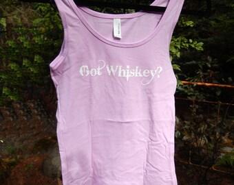 NEW Got Whiskey Sport tank -Choice of Pastel Colors- Original Screenprint design-sexy-sassy