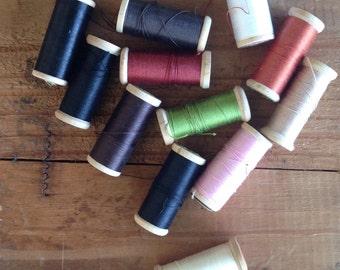 Vintage Wooden Spools of thread - J & P Coats
