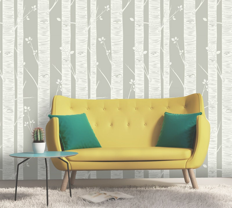 Birch tree wallpaper peel and stick wallpaper by - Birch tree wallpaper peel and stick ...