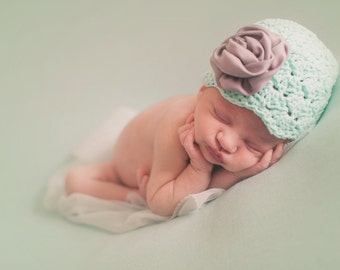 newborn girl hat, crochet hospital hat, newborn girl, baby girl, baby girl hat, girls hat, girls hospital hat, baby girl winter hat
