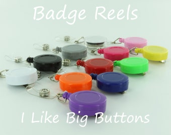 100 Blank Badge Reel/Reels Lanyard ID Retractable Clips (Ships from the USA) Use Fabric Covered Button, Bottle Cap & Much More