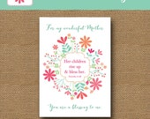 Printable Mother's Day Blessing | Christian Mother's Day | Scripture, Bible Verse Card for Mom | DIY PRINTABLE | Proverbs 31 | Download Now
