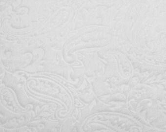 BTHY White Embossed Paisley Cuddle Minky Shannon Fabric Yardage