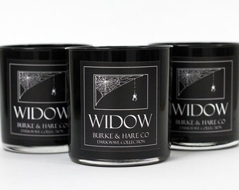 Black Candle- Scented Candle - Widow - Black Pepper - Goth Candle