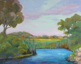 Guilford Marsh / Original Landscape Oil Painting /  24 X 30 / Connecticut