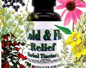 Cold And Flu Relief Herbal Tincture ~ Multiple Sizes