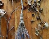 Handmade Sacred Avebury Beech Tree Altar Besom. Handfsting Home Blessing Gift.