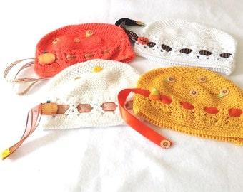 Thanksgiving/Fall Lg Designer Kufi Hat Small Infants, Reborn Doll Hat.....Photo Prop, NurseryWear, Shower Gift,