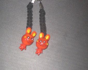 Evil Bunny Hemp Earrings
