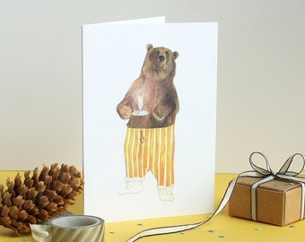 I Can Bearly See You Greetings Card
