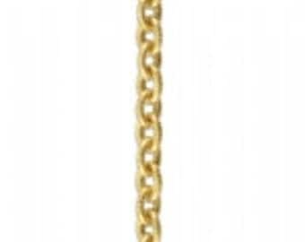 Vintaj Vogue 4mm Petite Etched Cable Chain (4 ft)