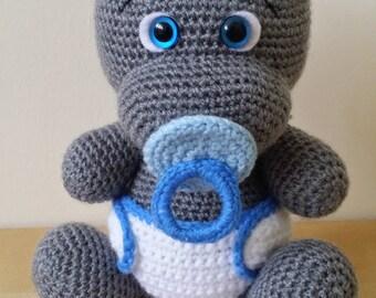 CrochetHippo-HippoPlush-HippoStuffedAnimal-HippoPlushie-HippoStuffedToy-CrochetHippopotamus-StuffedAnimals-BabyShower-CrochetToys-GiftIdeas-