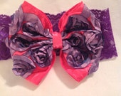 Hair Bows/Vintage Lace/Baby Hair Bows/Headbands