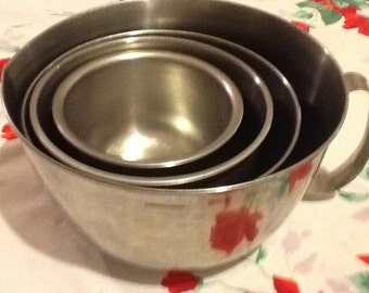 Metal Nesting Cookware Bowls Industrial Kitchen