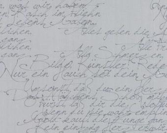 Modern Background in Ink - Basic Handwriting in Zen Grey - Moda - 1580-26 - 1/2 yard