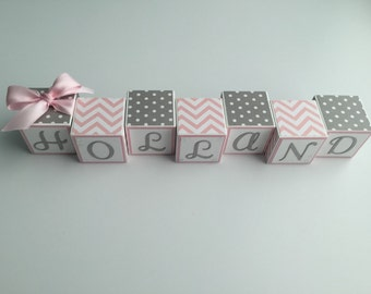Custom Baby Name Blocks Baby Gift Baby Shower Newborn Nursery Photography Baby Boy Girl Babies Personalized Letters Wood Sign