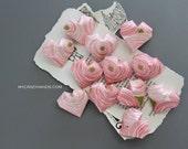 12+ origami hearts | pink wedding heart || bridal shower decor | bridesmaids gifts -pink rose