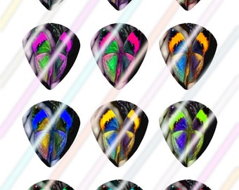 Butterfly Glow Jazz Style Pick Images 4x6 Digital Collage Sheet Wine Love Instant Download