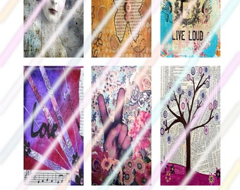 """Beauty Within (#2) 1"""" x 2"""" Domino Images 4x6 Digital Collage Sheet  Instant Download"""
